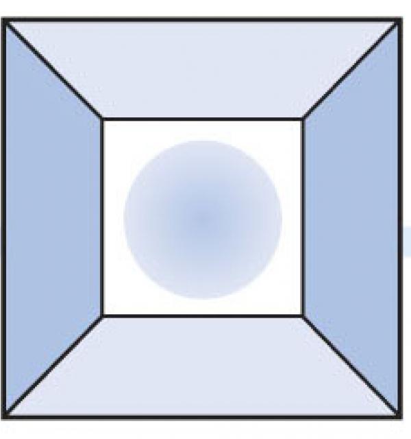 Фацет Decra Bevels DB152 квадрат