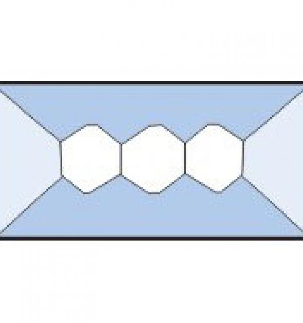 Фацет Decra Bevels DB158 прямоугольник