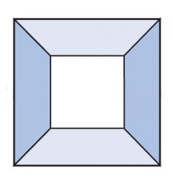 Фацет Decra Bevels DB18 квадрат