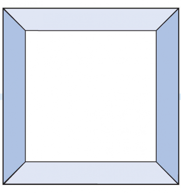 Фацет Decra Bevels DB20/RB1252 квадрат