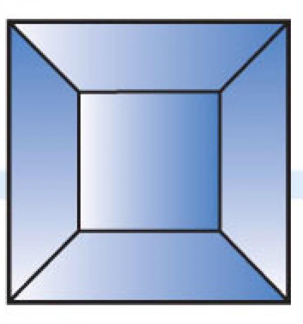 Фацет Decra Bevels DB207/RB518Blue синий квадрат