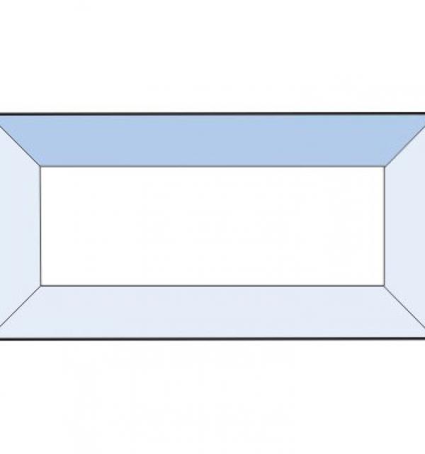 Фацет Decra Bevels DB21/RB8.3 прямоугольник