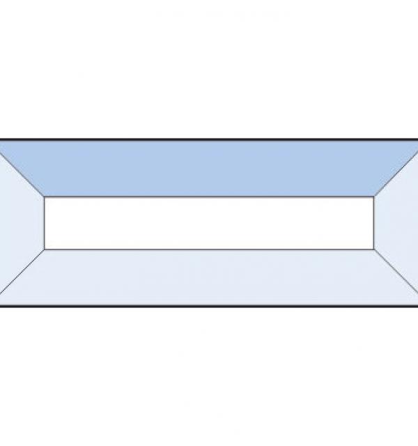 Фацет Decra Bevels DB222/RB121 прямоугольник