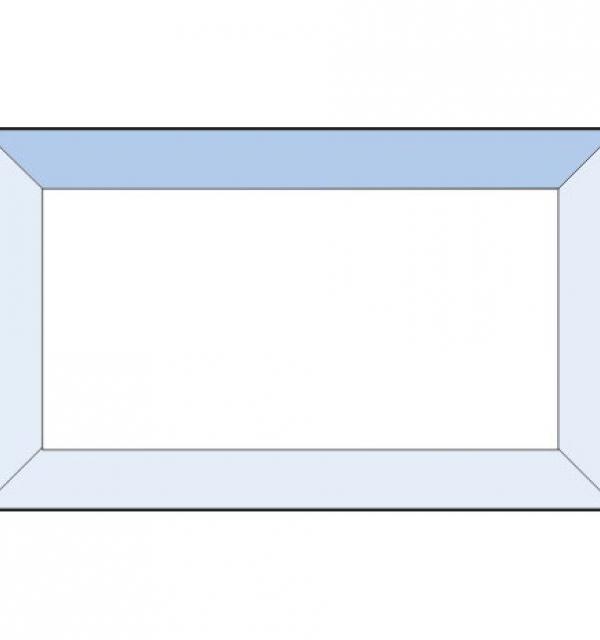 Фацет Decra Bevels DB23 прямоугольник