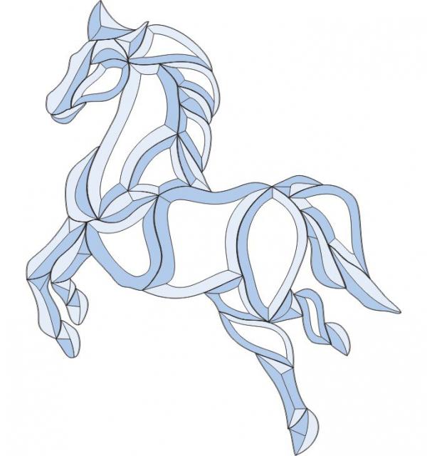 Фацет Decra Bevels DB230 лошадь