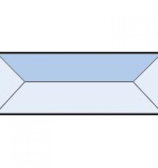 Фацет Decra Bevels DB254 прямоугольник