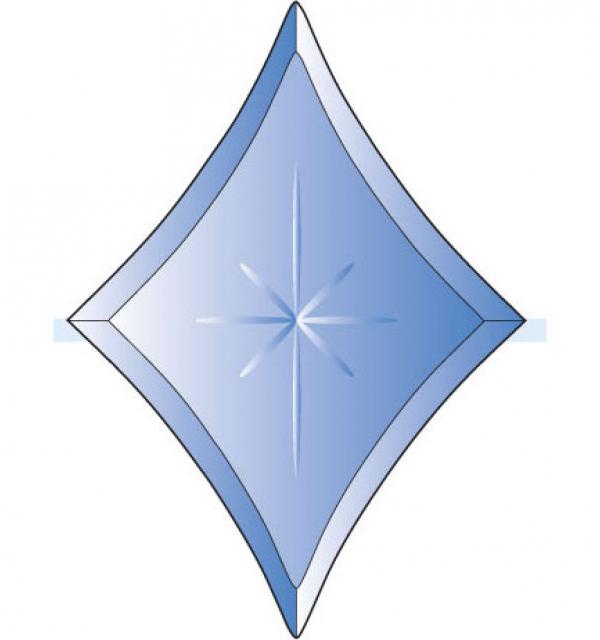 Фацет Decra Bevels DB269 синяя звезда