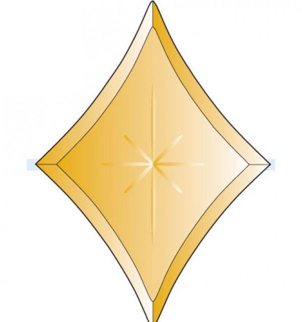 Фацет Decra Bevels DB270/RB636.1Bronze бронзовая звезда