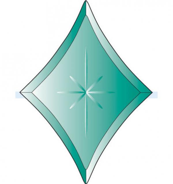 Фацет Decra Bevels DB271/RB736.1Green зеленая звезда