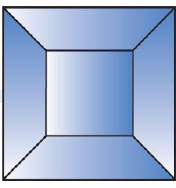 Фацет Decra Bevels DB275 синий квадрат