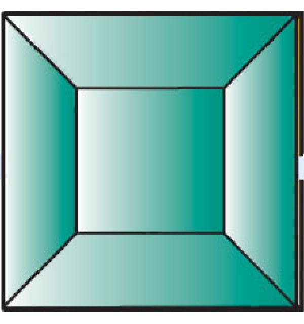Фацет Decra Bevels DB277/RB708.2Green зеленый квадрат