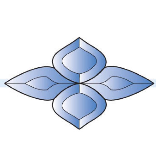 Фацет Decra Bevels DB281/RB505.1Blue синий фрамужный набор