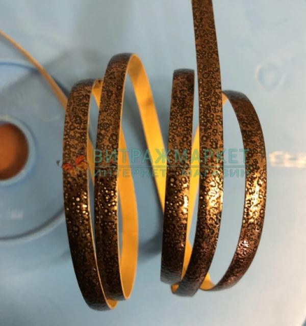 Свинцовая лента Decra Led Rustic Cooper 4,5 мм/1 м  (коричневая текстурная медь)