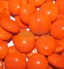 Марблс ТИП-6D Оранжевый непрозрачный Опал 360 гр/1 уп размер 16-18 мм